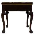 Piano Stool With Music Storage - Ball And Claw Feet